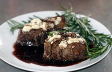 Filet Mignon with Port Wine & Blue Cheese
